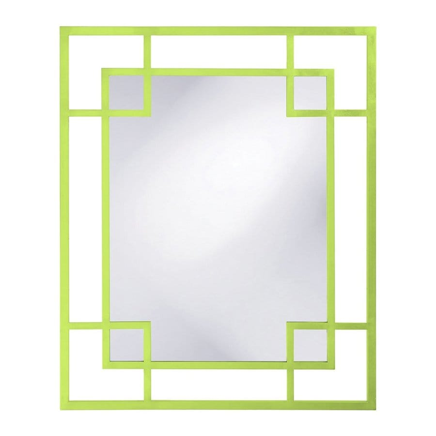 Tyler Dillon Lois Green Polished Rectangle Wall Mirror