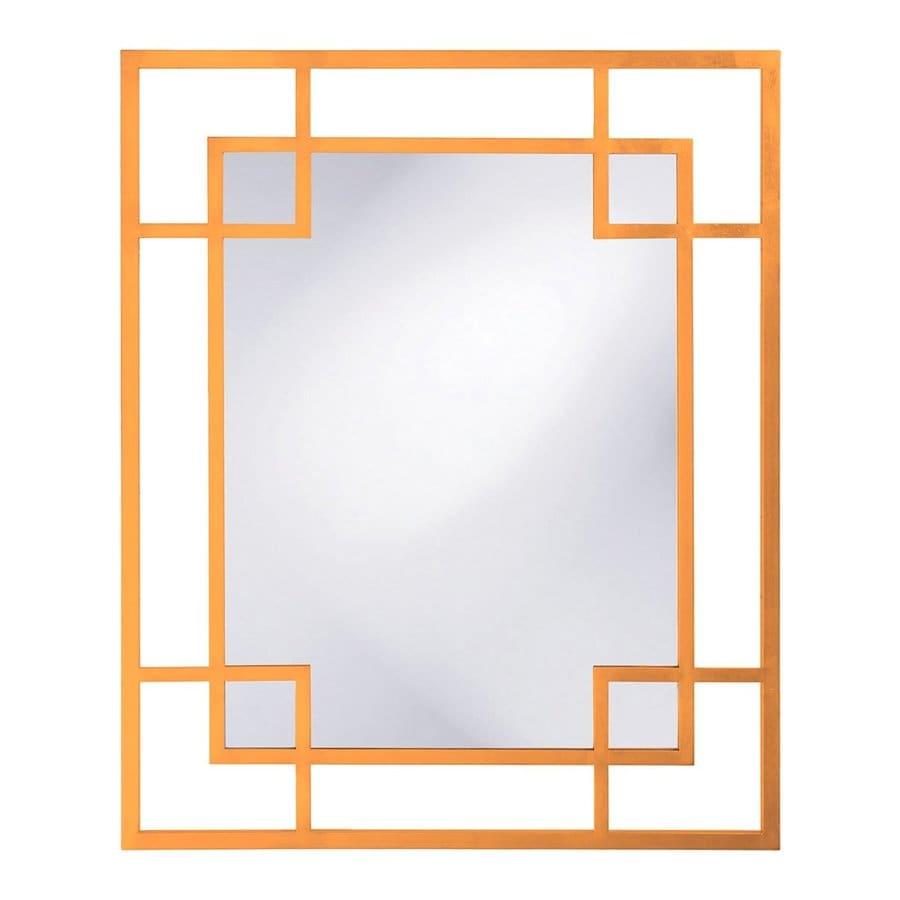 Tyler Dillon Lois Orange Polished Rectangle Wall Mirror