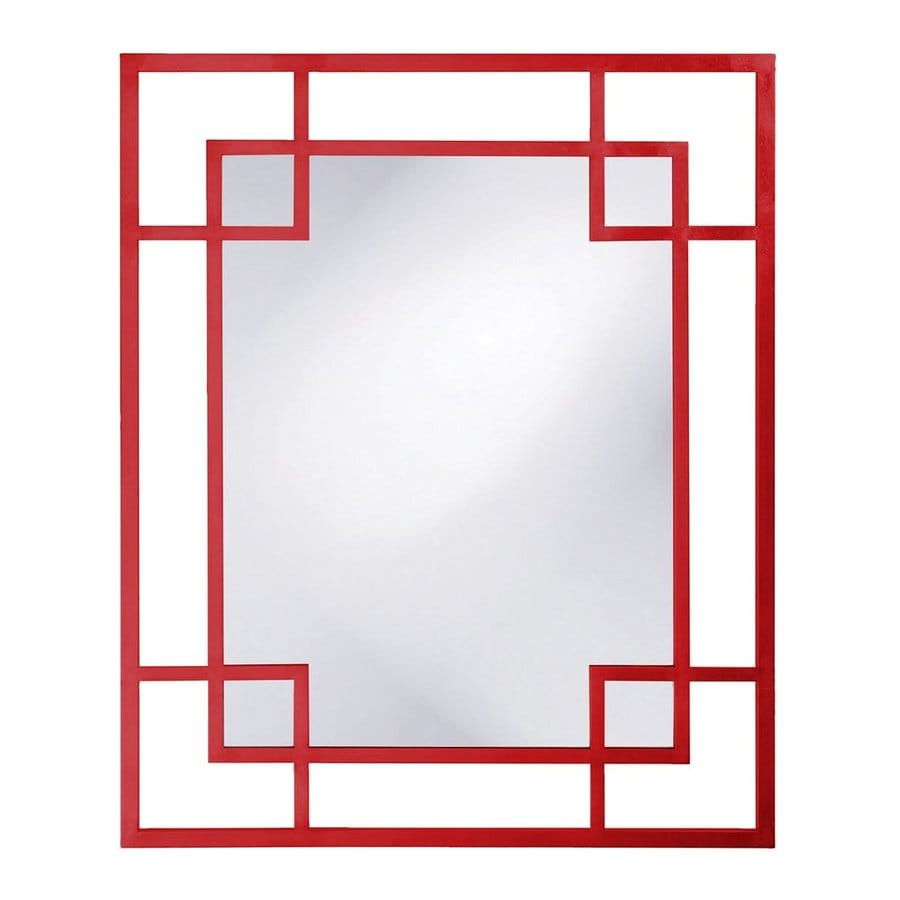 Shop Tyler Dillon Lois Red Framed Wall Mirror At Lowes