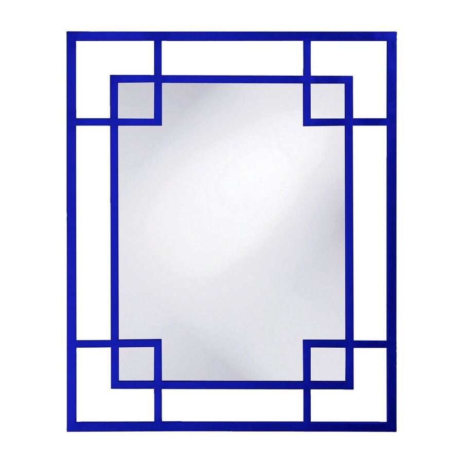 Tyler Dillon Lois Royal Blue Framed Wall Mirror