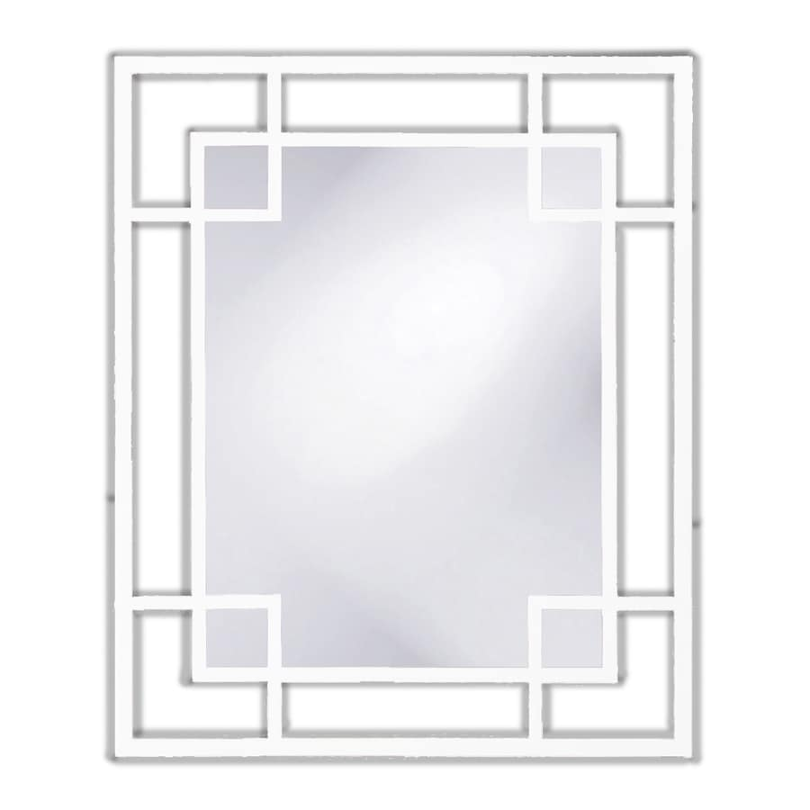 Tyler Dillon Lois White Polished Rectangle Wall Mirror