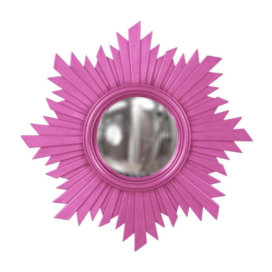 Tyler Dillon Euphoria Hot Pink Polished Sunburst Wall Mirror