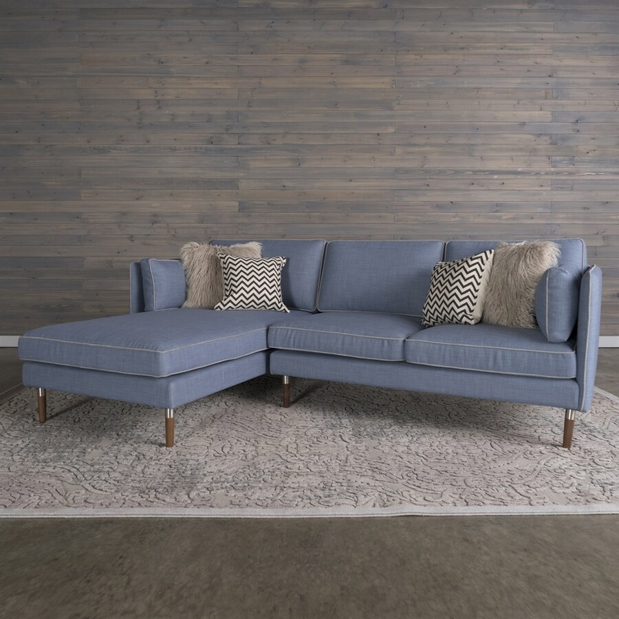 RST Brands Florence Midcentury Denim Blue Polyester/Polyester Blend Sectional