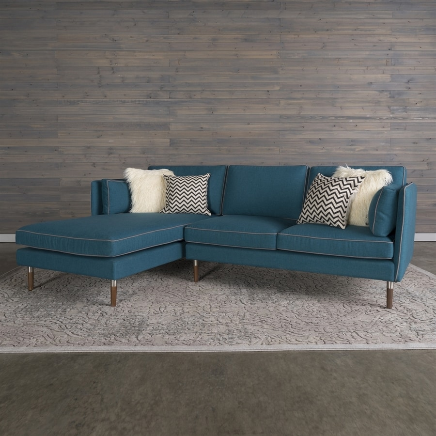 RST Brands Florence Midcentury Teal Blue Sectional