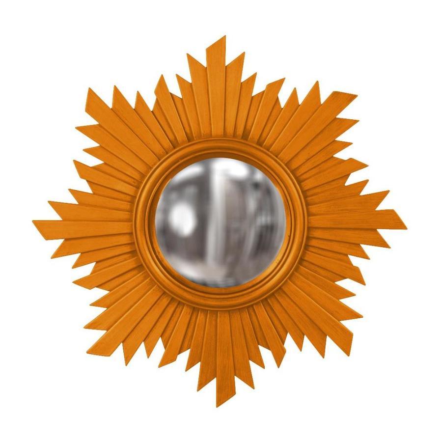 Tyler Dillon Euphoria Orange Polished Sunburst Wall Mirror