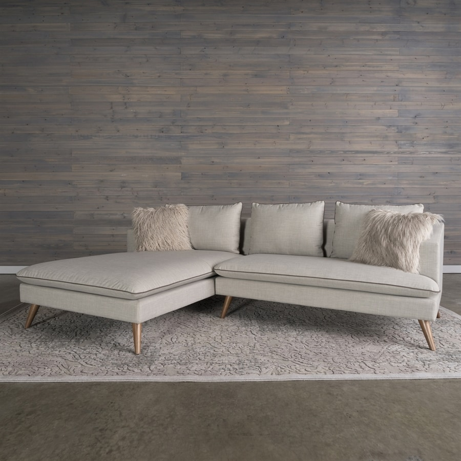 RST Brands Marco Midcentury Stonewashed Grey Polyester/Polyester Blend Sectional