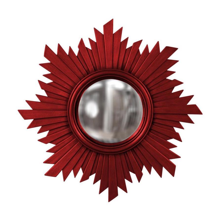 Tyler Dillon Euphoria Red Polished Sunburst Wall Mirror