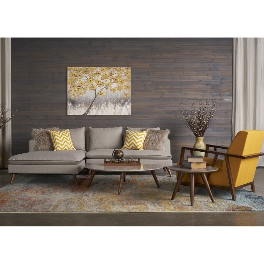 RST Brands 5-Piece Marco Stonewashed Grey/Sunset Gold Living Room Set