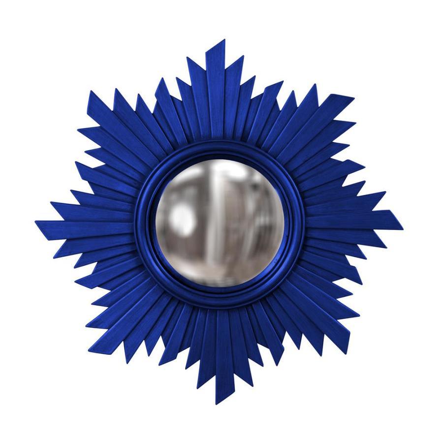 Tyler Dillon Euphoria Royal Blue Polished Sunburst Wall Mirror