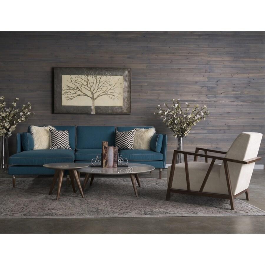 RST Brands 5-Piece Florence Teal Blue/Ivory Living Room Set