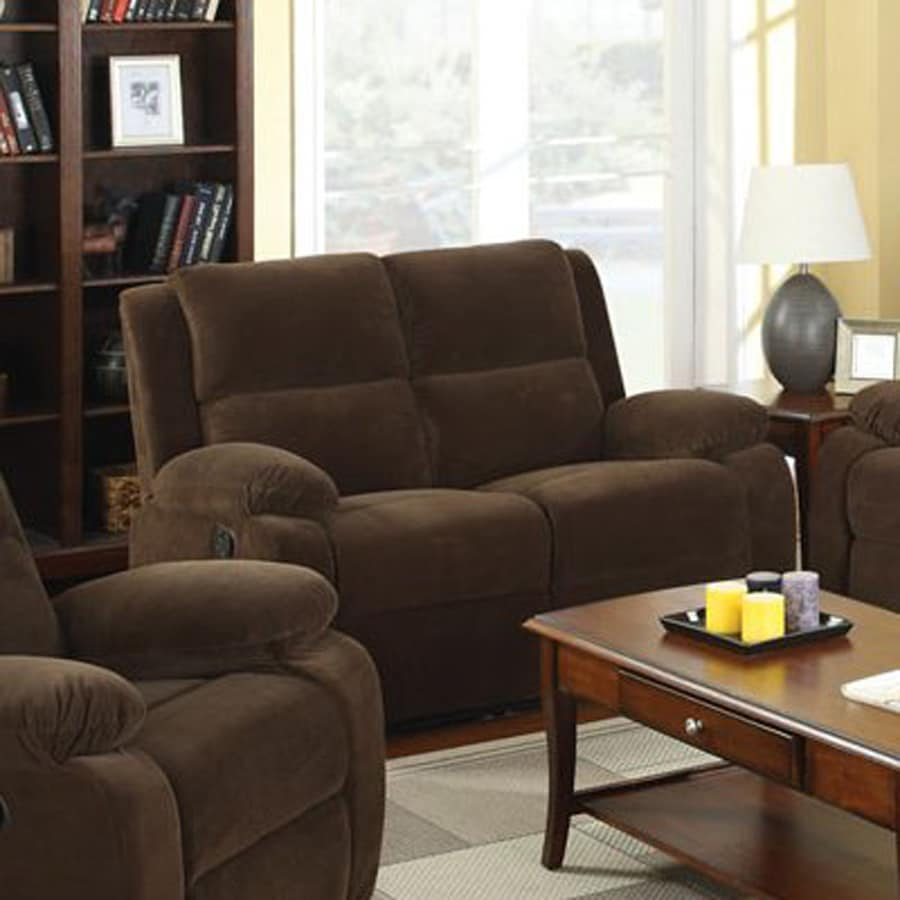 Furniture of America Haven Casual Dark Brown Reclining Loveseat