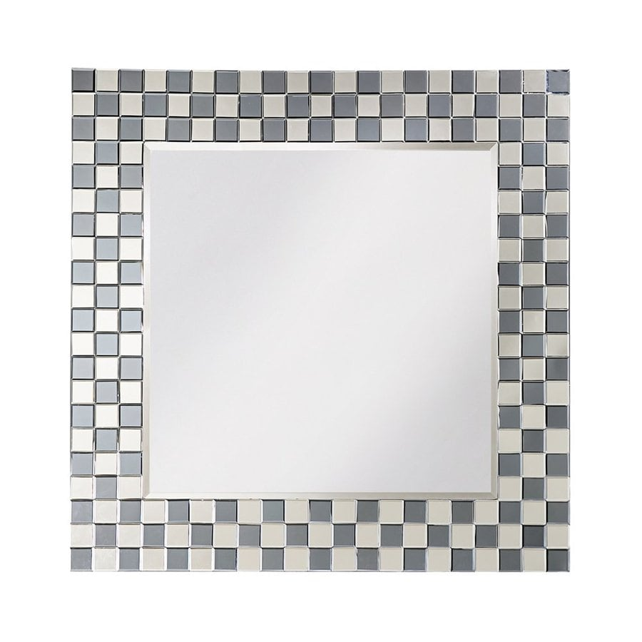 Tyler Dillon Michael Smoky Gray Beveled Square Wall Mirror