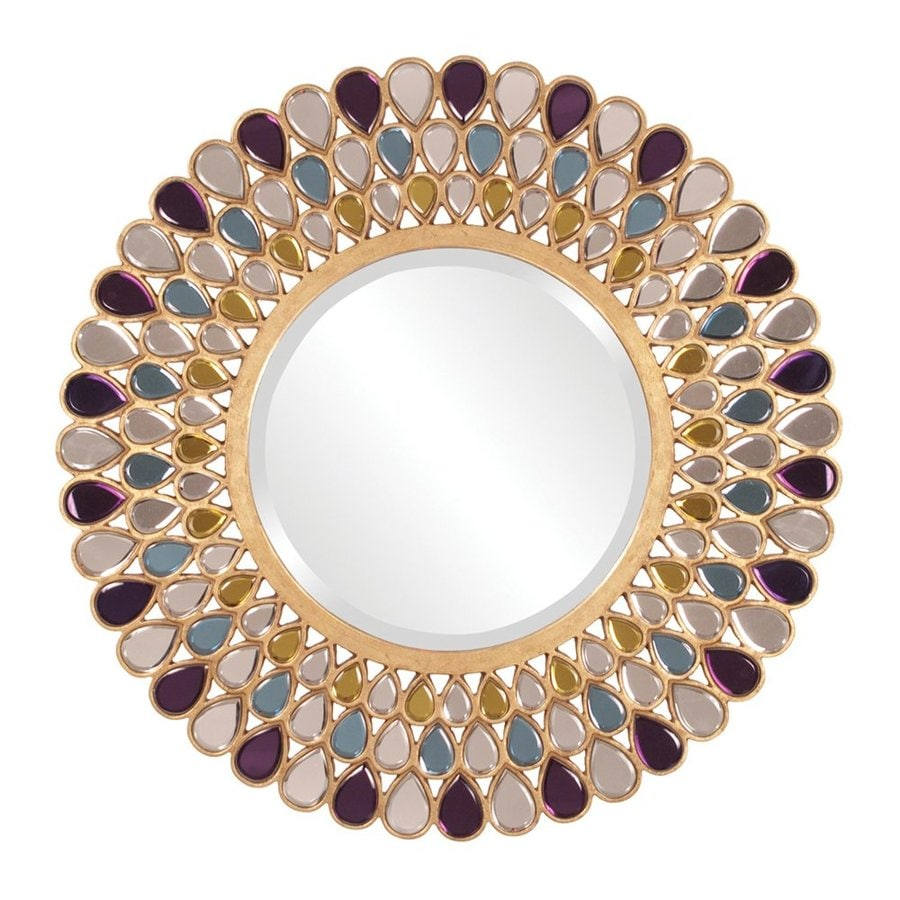 Tyler Dillon Grace Multi-Color Beveled Round Wall Mirror