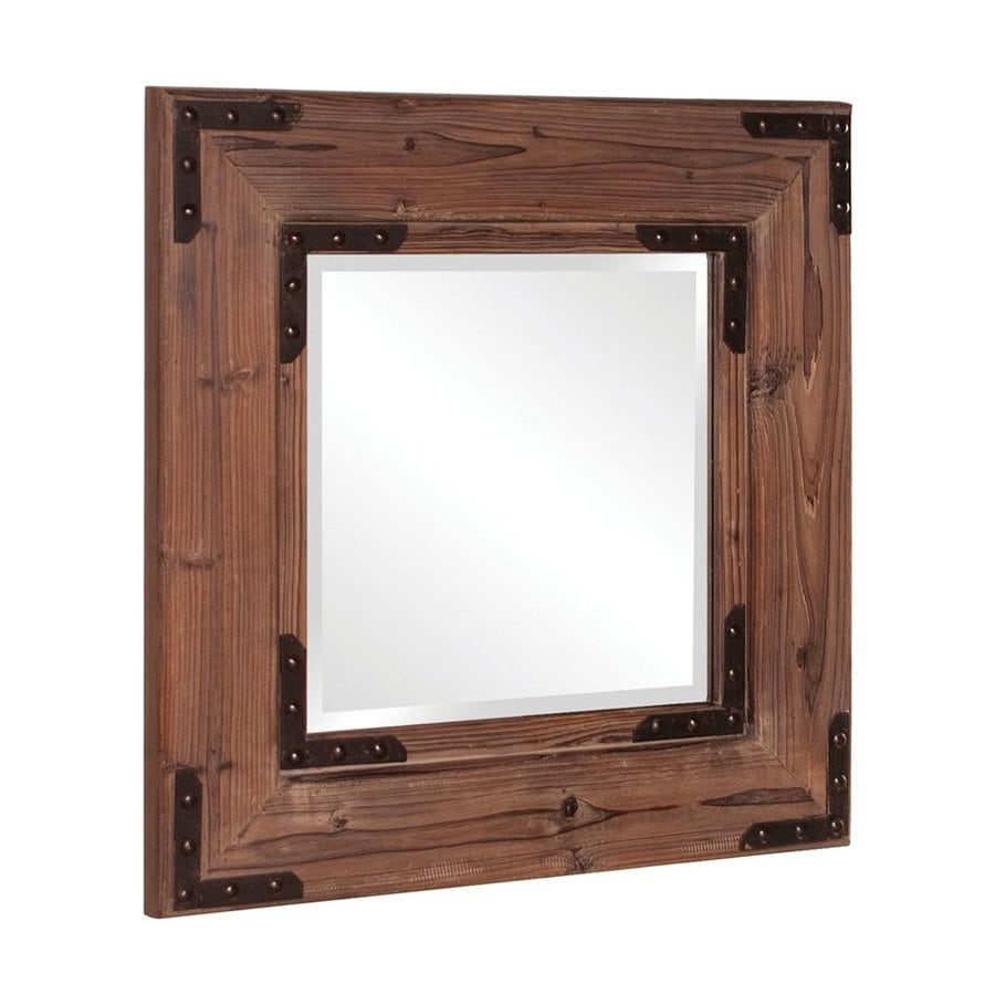 Tyler Dillon Caldwell Brown Beveled Square Wall Mirror
