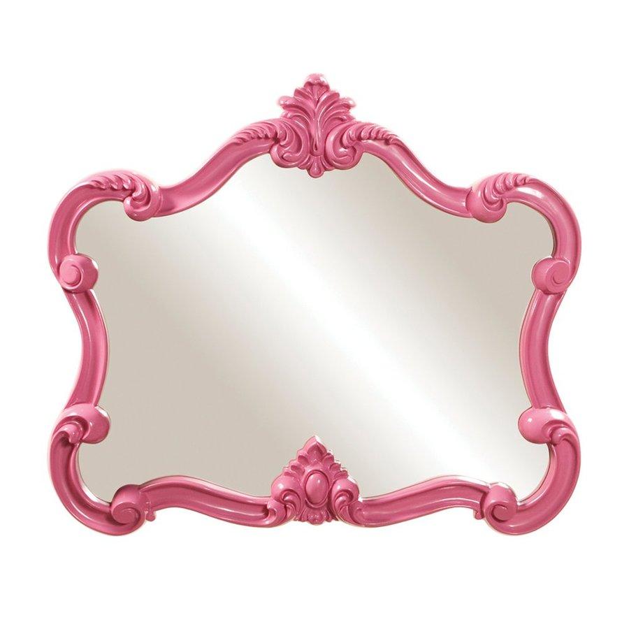 Tyler Dillon Veruca Glossy Pink Irregular Wall Mirror