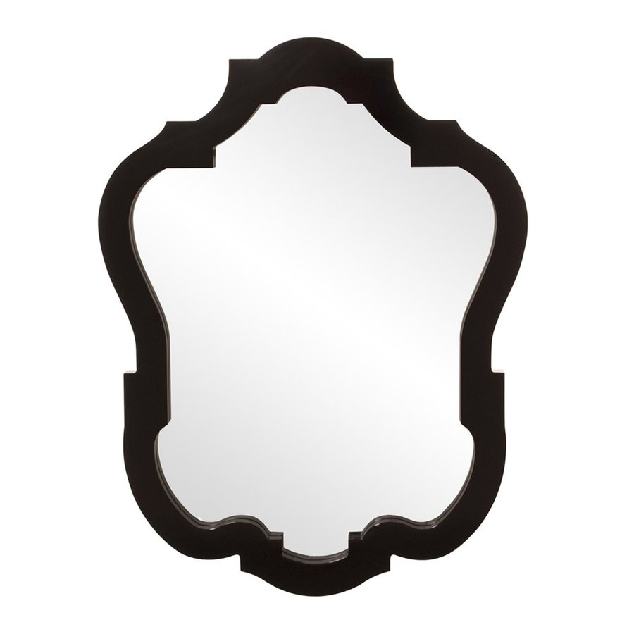 Tyler Dillon Asbury Glossy Black Framed Wall Mirror