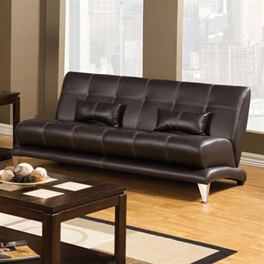 Furniture of America Artem Modern Chocolate Faux Leather Sofa