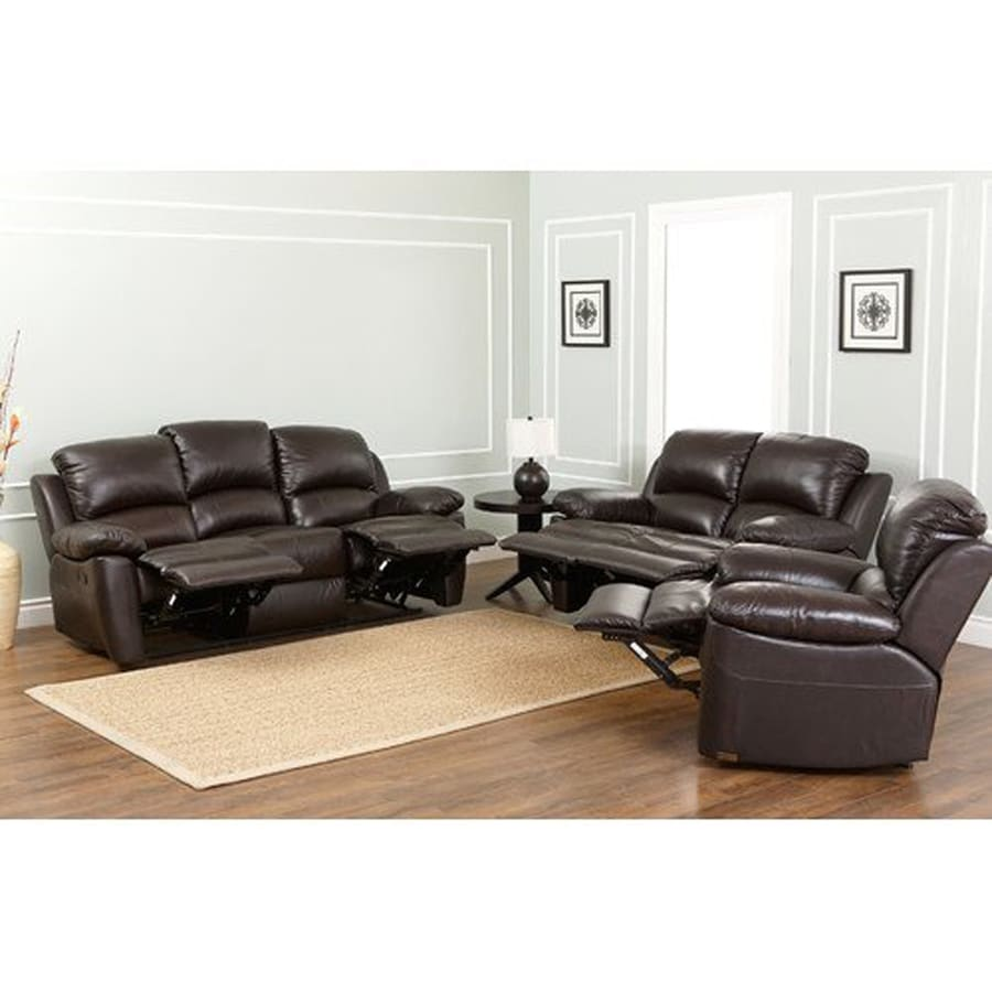 Pacific Loft 3-Piece Westwood Brown Living Room Set