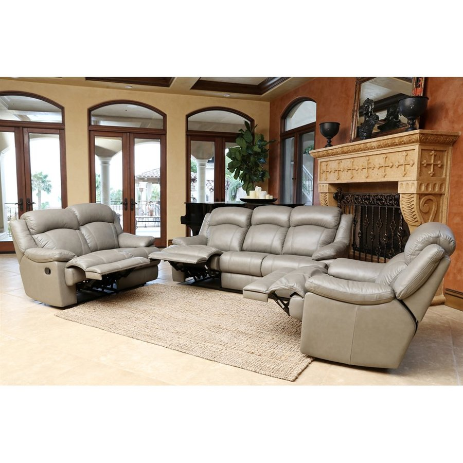Pacific Loft Warwick Casual Grey Genuine Leather Sofa