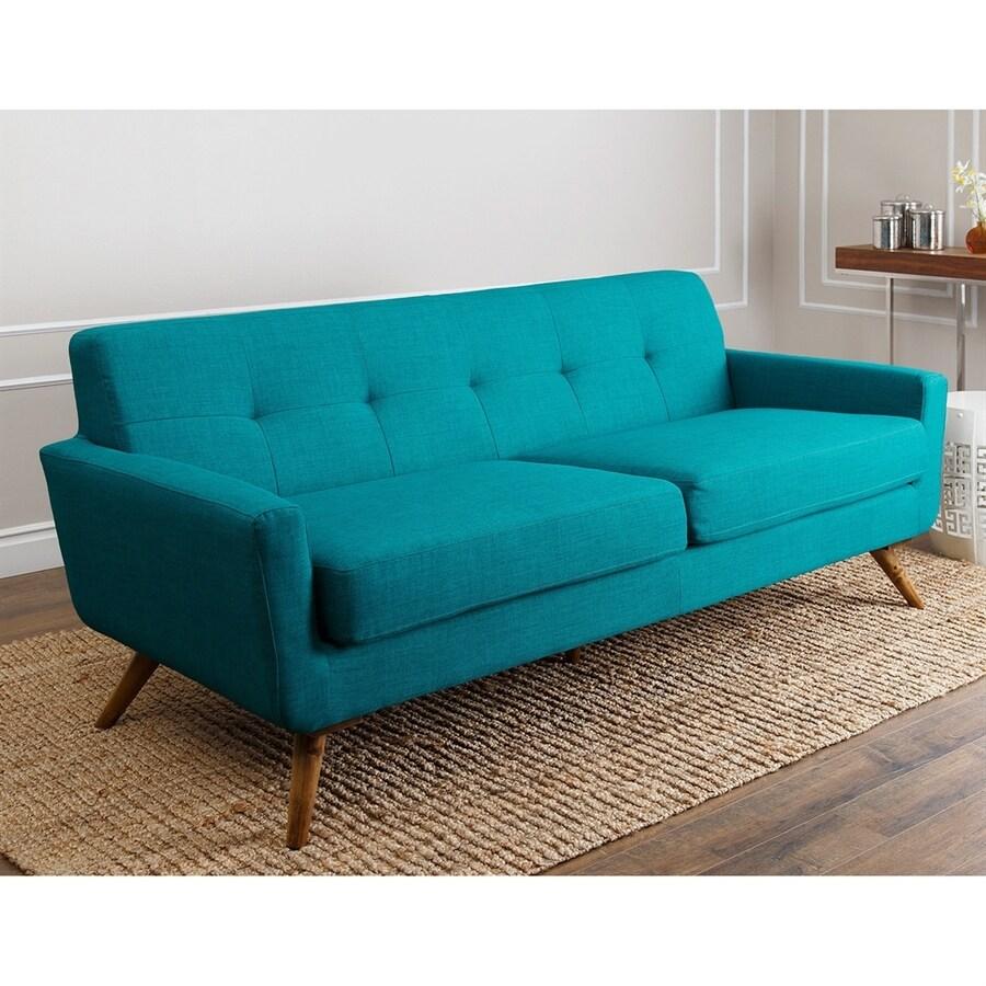 Pacific Loft Bayview Midcentury Blue Linen Sofa
