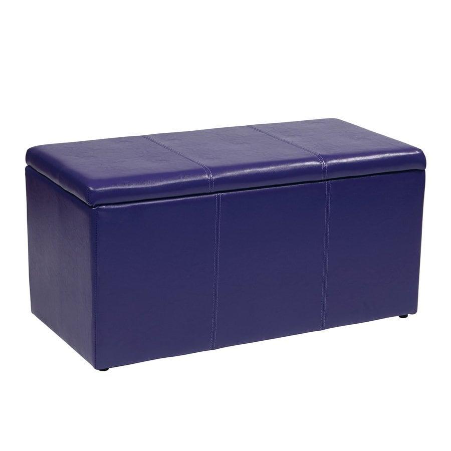 Office Star Metro Casual Purple Vinyl Storage Ottoman