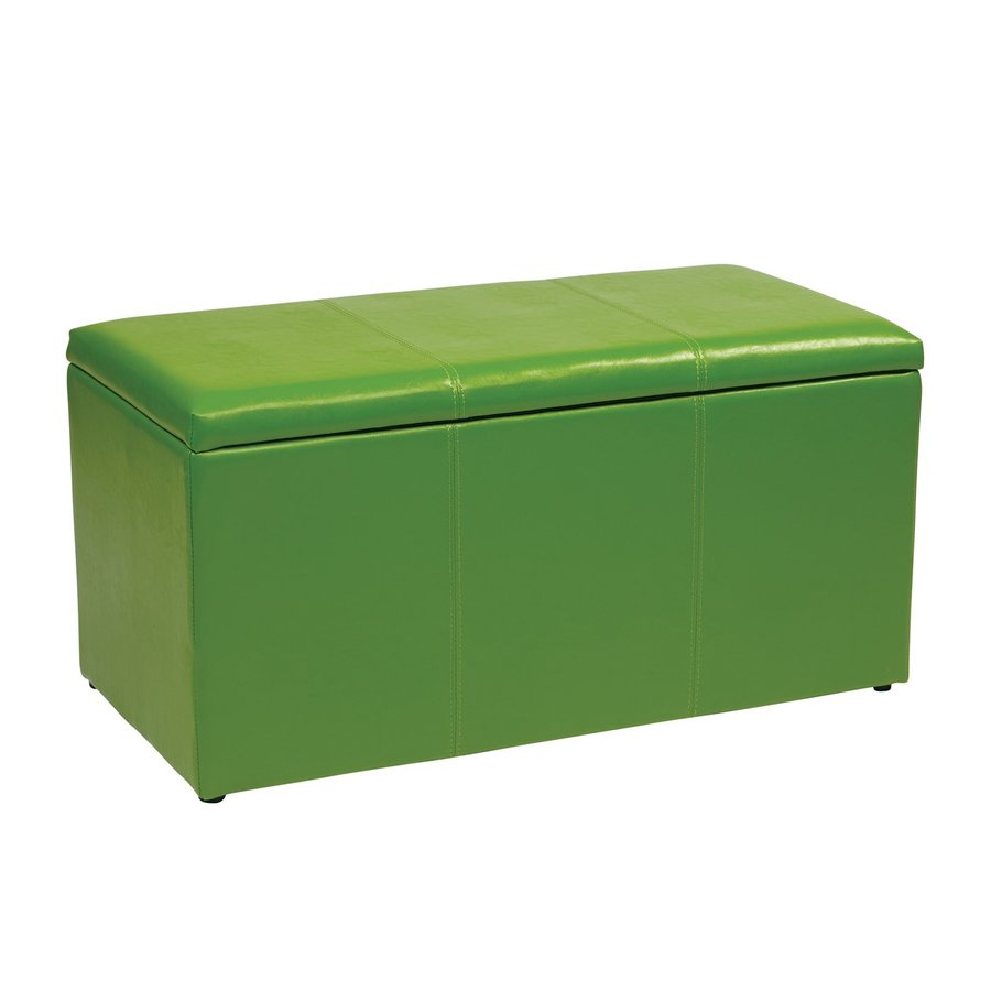Office Star Metro Casual Green Vinyl Storage Ottoman  sc 1 st  Loweu0027s & Shop Office Star Metro Casual Green Vinyl Storage Ottoman at Lowes.com