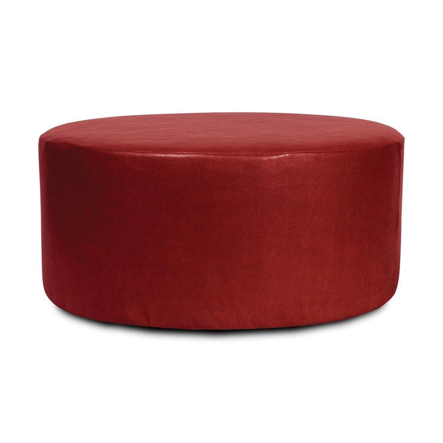 Tyler Dillon Avanti Casual Apple Faux Leather Round Ottoman