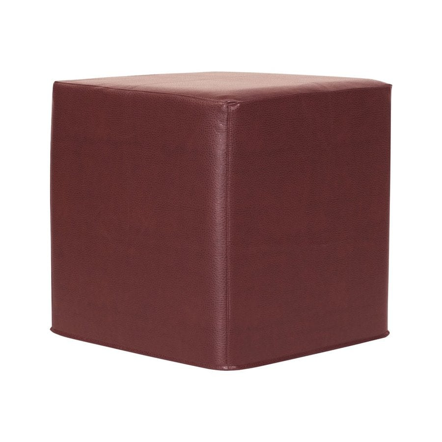 Tyler Dillon Avanti No Tip Casual Apple Faux Leather Ottoman