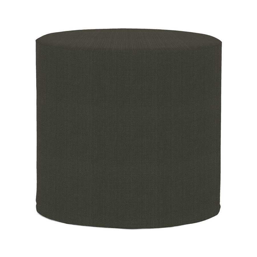 Tyler Dillon Sterling No Tip Casual Charcoal Round Ottoman