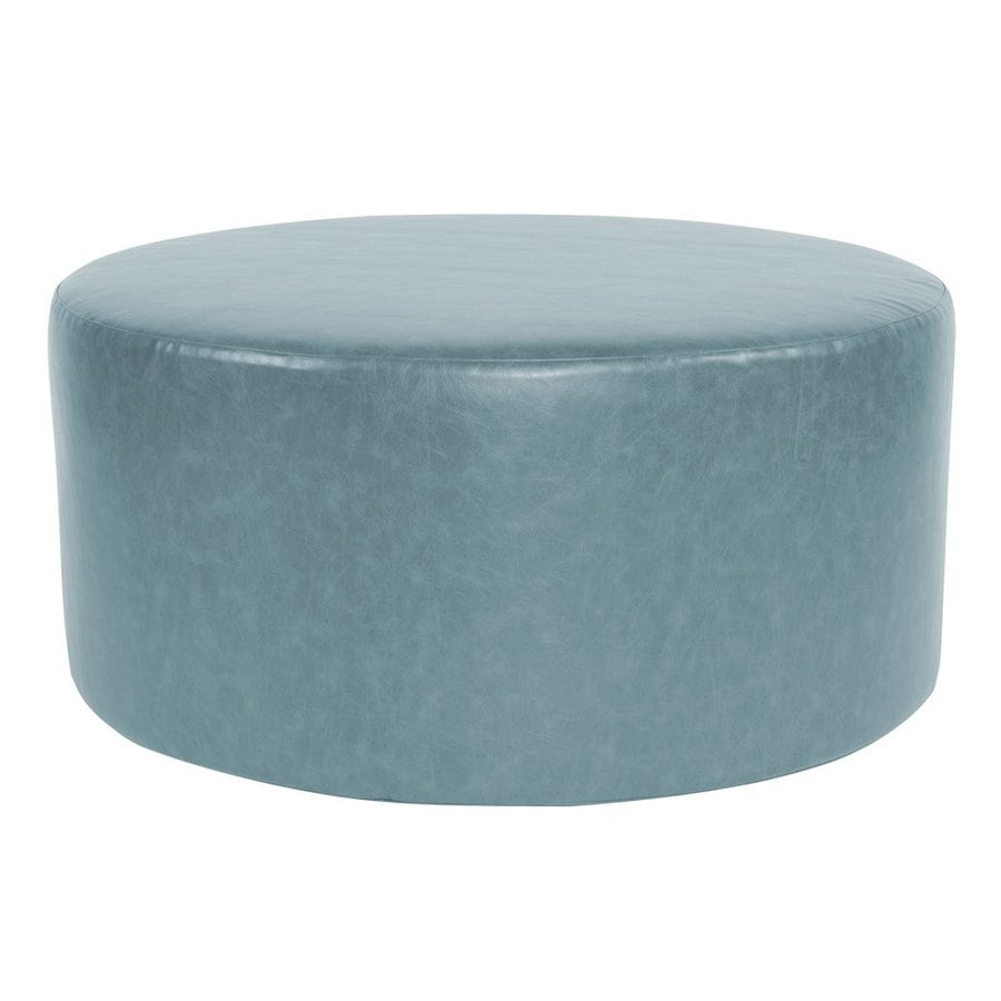 Shop tyler dillon bucktown casual turquoise faux leather for Coffee tables 18 inches wide