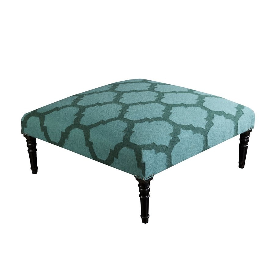 Surya Frontier Casual Teal/Forest Wool Ottoman