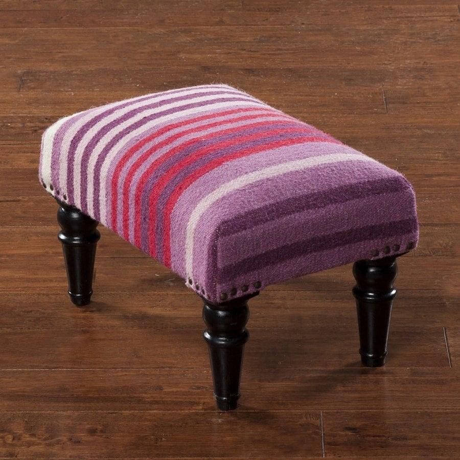 Surya Casual Purple/Plum Wool Ottoman