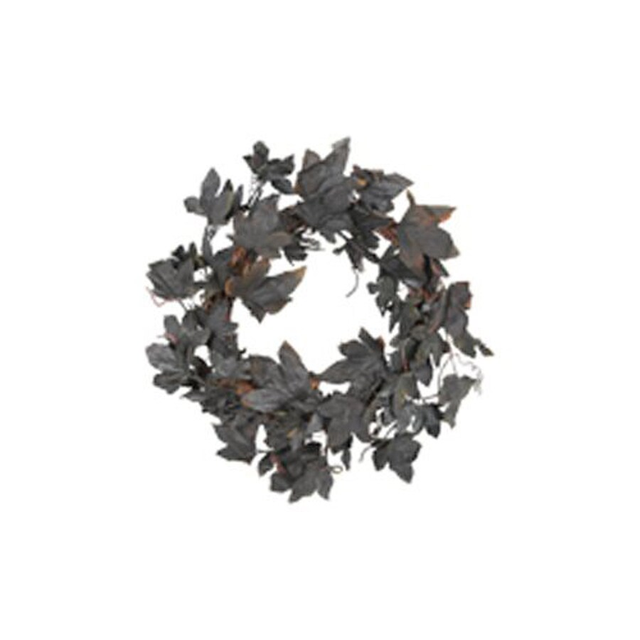 Fantastic Craft 20-in Glitter Maple Leaf Artificial Halloween Wreath