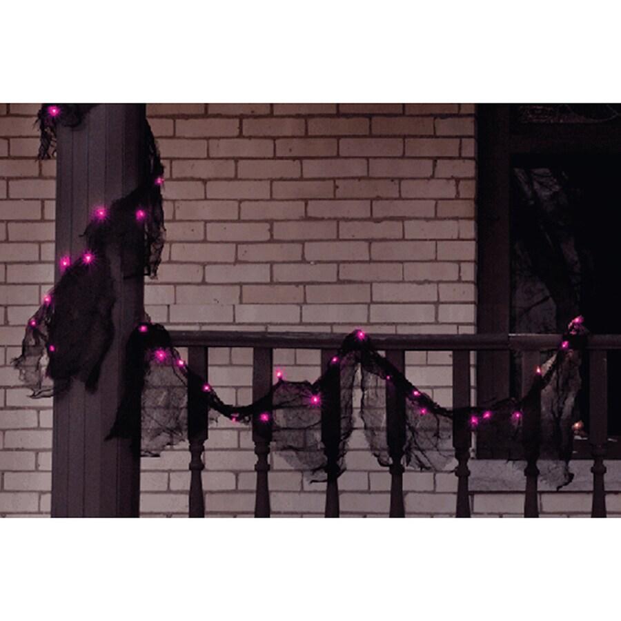 Northlight Indoor/Outdoor Pre-Lit 9-ft Gauze Artificial Halloween Garland with Purple Incandescent Lights
