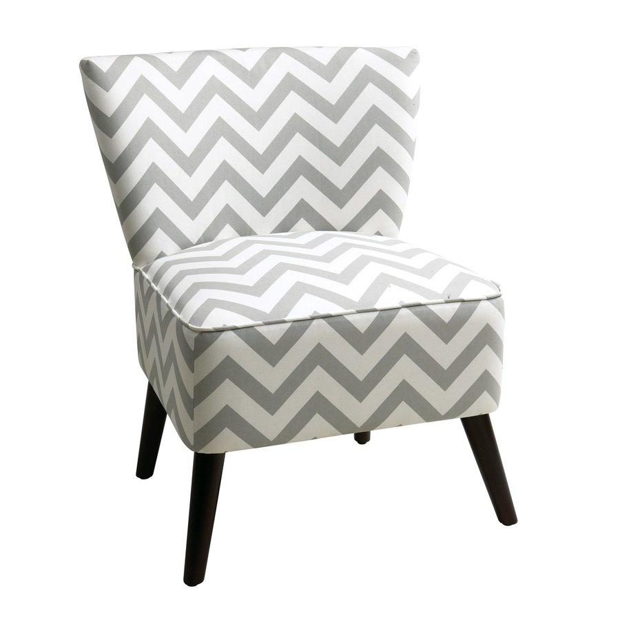 Office Star Apollo Casual Zig Zag Grey Slipper Chair