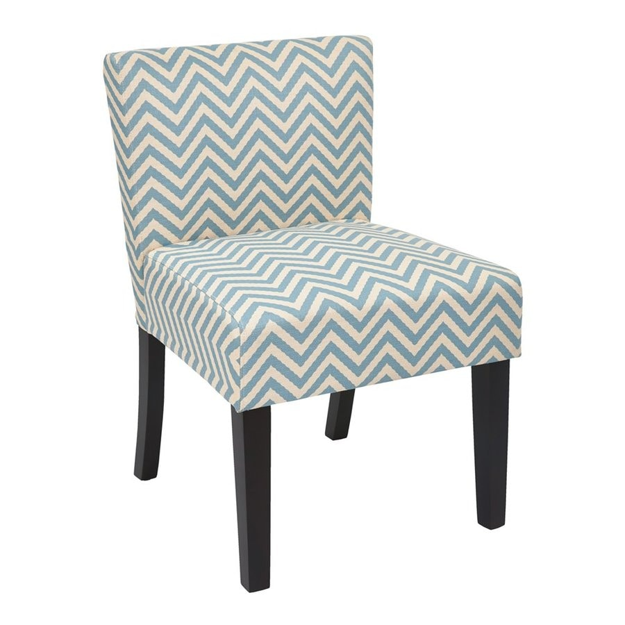 Office Star INSPIRED by Bassett Casual Mist Chevron Polyester Slipper Chair