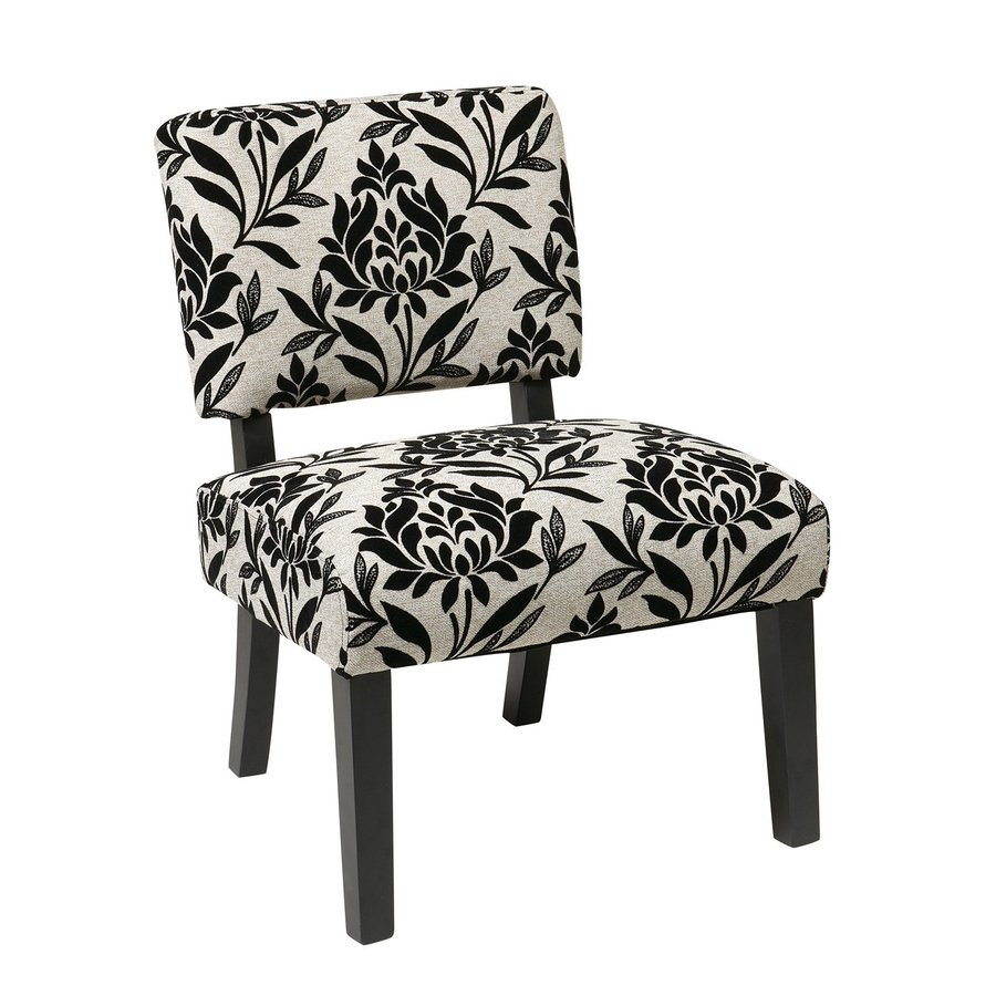 Office Star Jasmine Casual Black/White Accent Chair