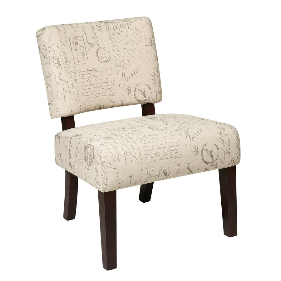 Office Star Jasmine Casual Script Blend Accent Chair
