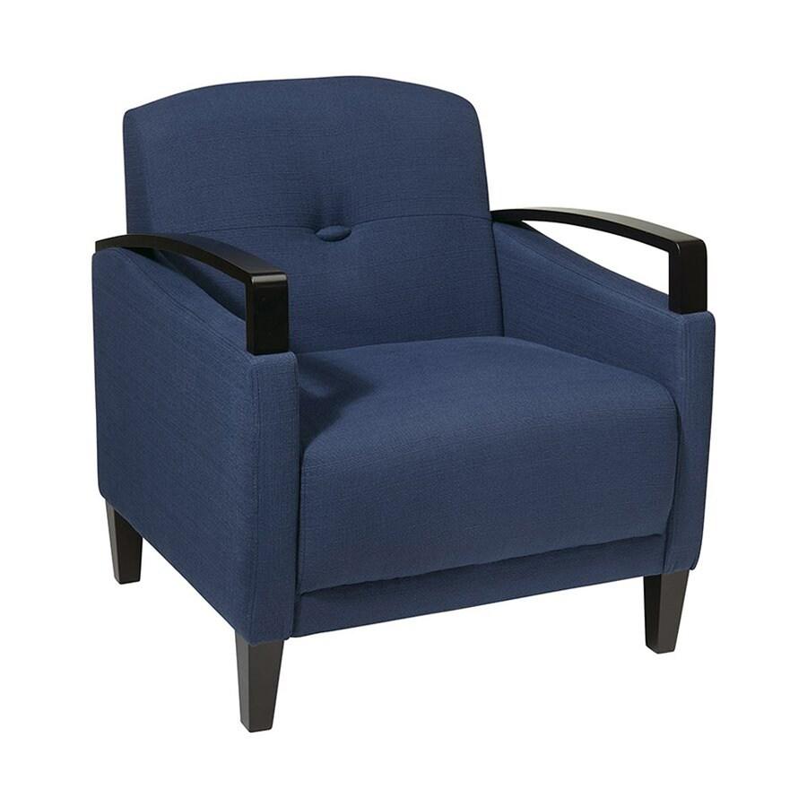 Office Star Main Street Casual Woven Indigo Club Chair