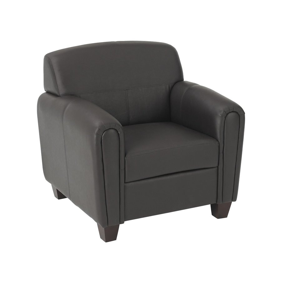 Office Star Pillar Casual Espresso Faux Leather Club Chair