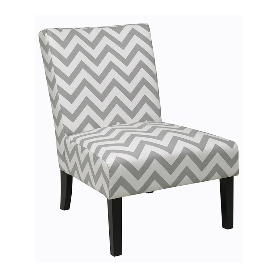Office Star Victoria Casual Zig Zag Grey Slipper Chair