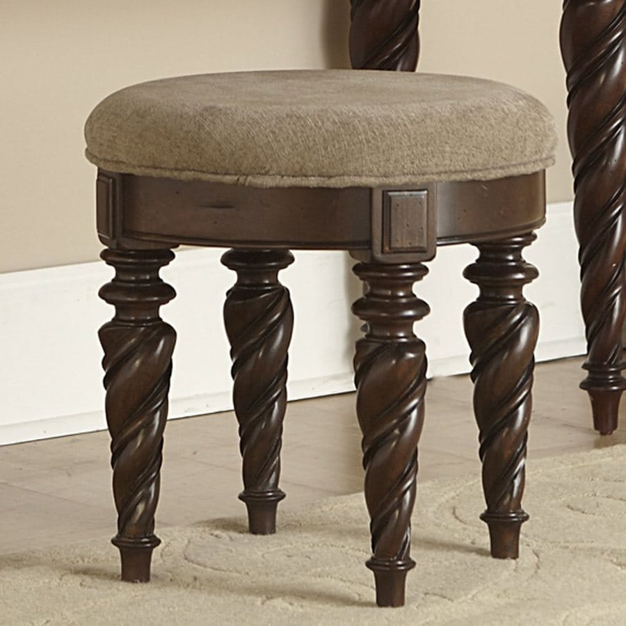 Liberty Furniture 18.25-in H Brownstone Round Makeup Vanity Stool