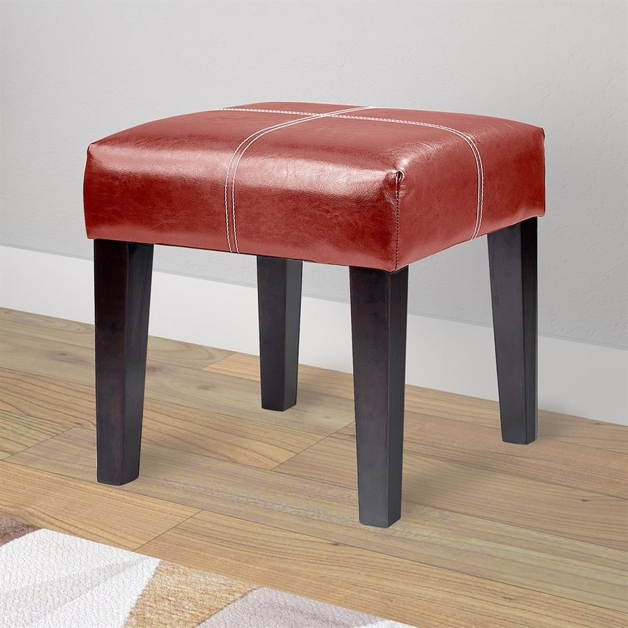 Corliving 19 In H Red Square Makeup Vanity Stool