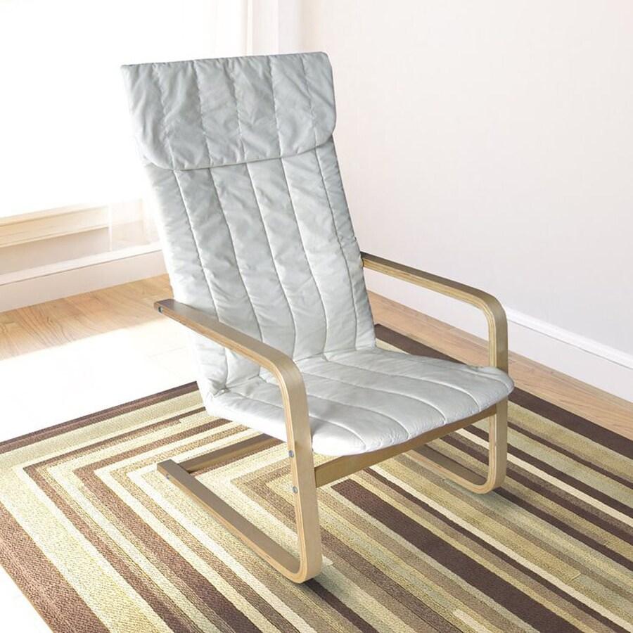 CorLiving Aquios Modern Eggshell White Accent Chair