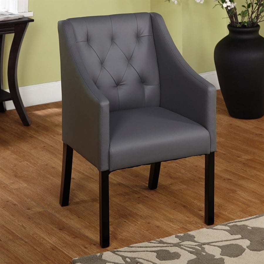 TMS Furniture Casual Gray Faux Leather Accent Chair
