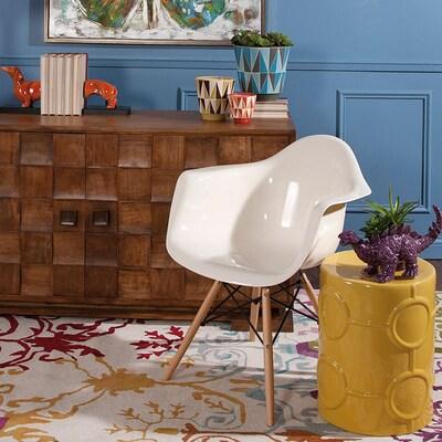 Groovy Imax Worldwide Arturo Scandinavian White Accent Chair At Theyellowbook Wood Chair Design Ideas Theyellowbookinfo