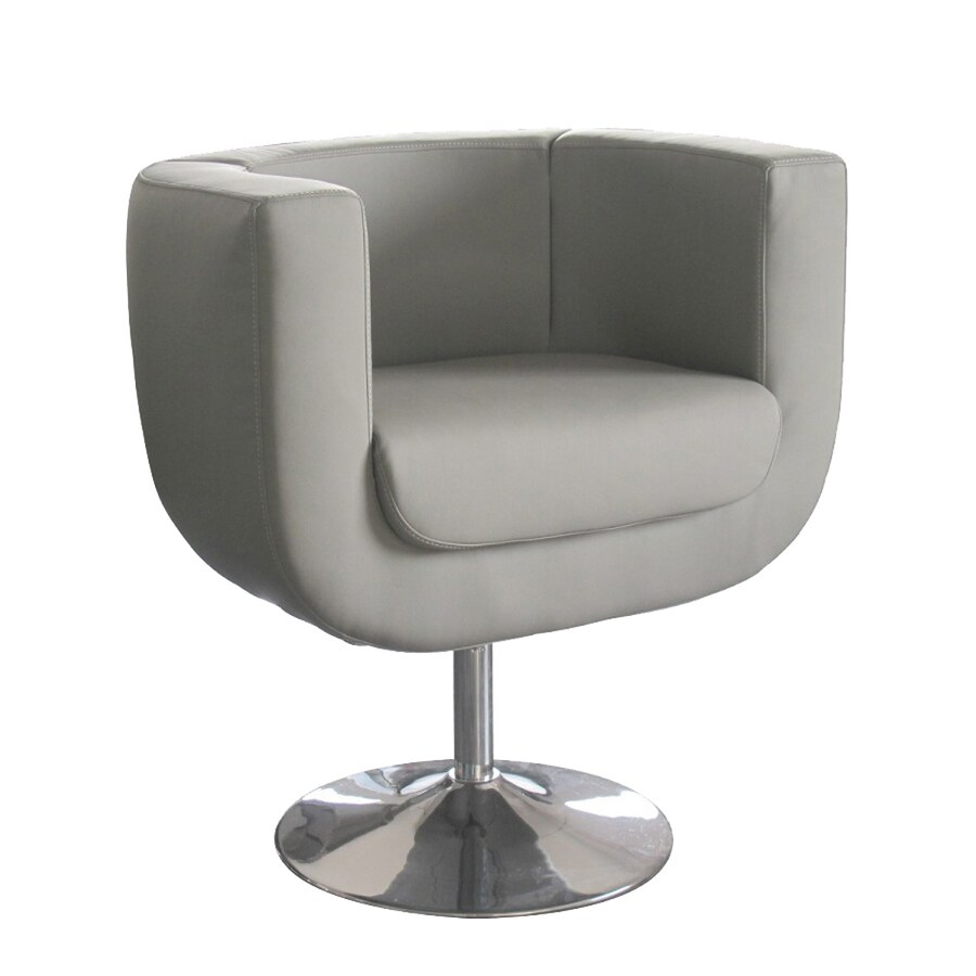 Whiteline Imports Bliss Modern Gray Faux Leather Accent Chair