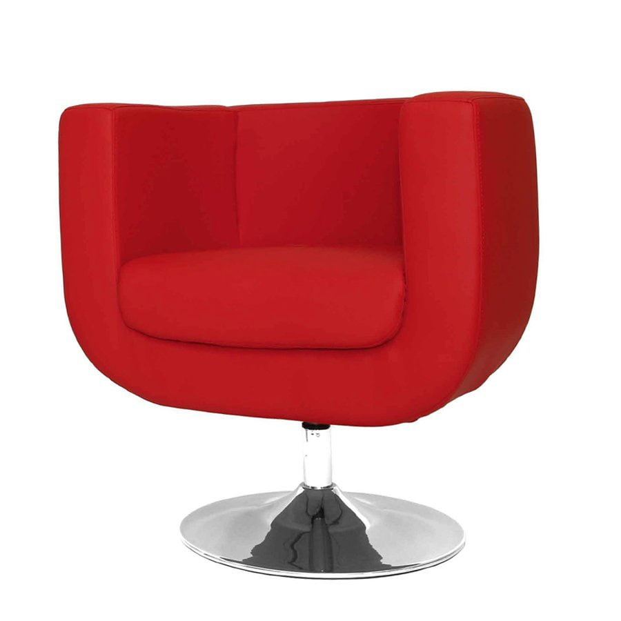 Whiteline Imports Bliss Modern Red Faux Leather Accent Chair