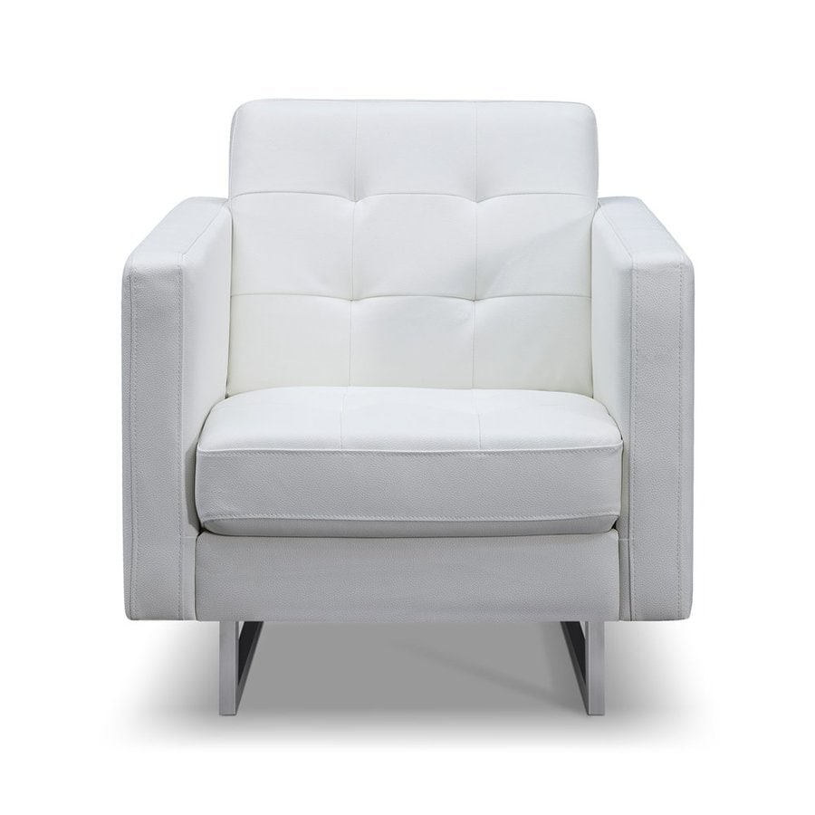 Charmant Whiteline Imports Giovanni Modern White Faux Leather Accent Chair