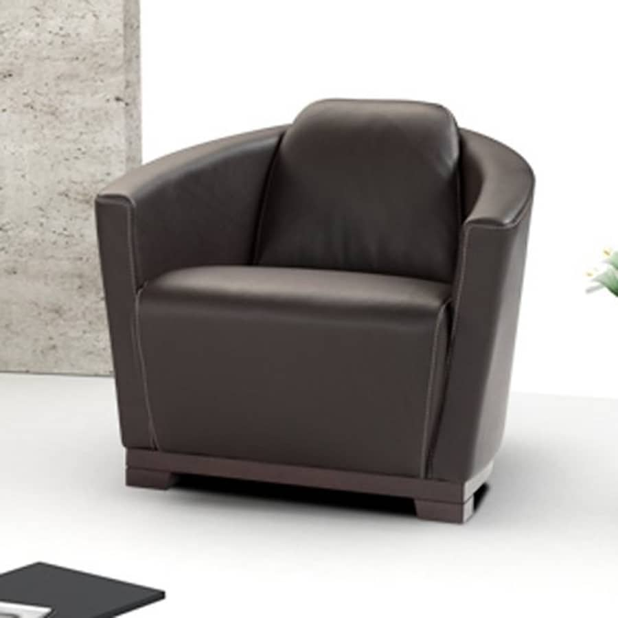 Ju0026M Furniture Hotel Modern Chocolate Leather Club Chair